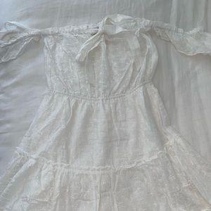 Princess poly white flowy dress